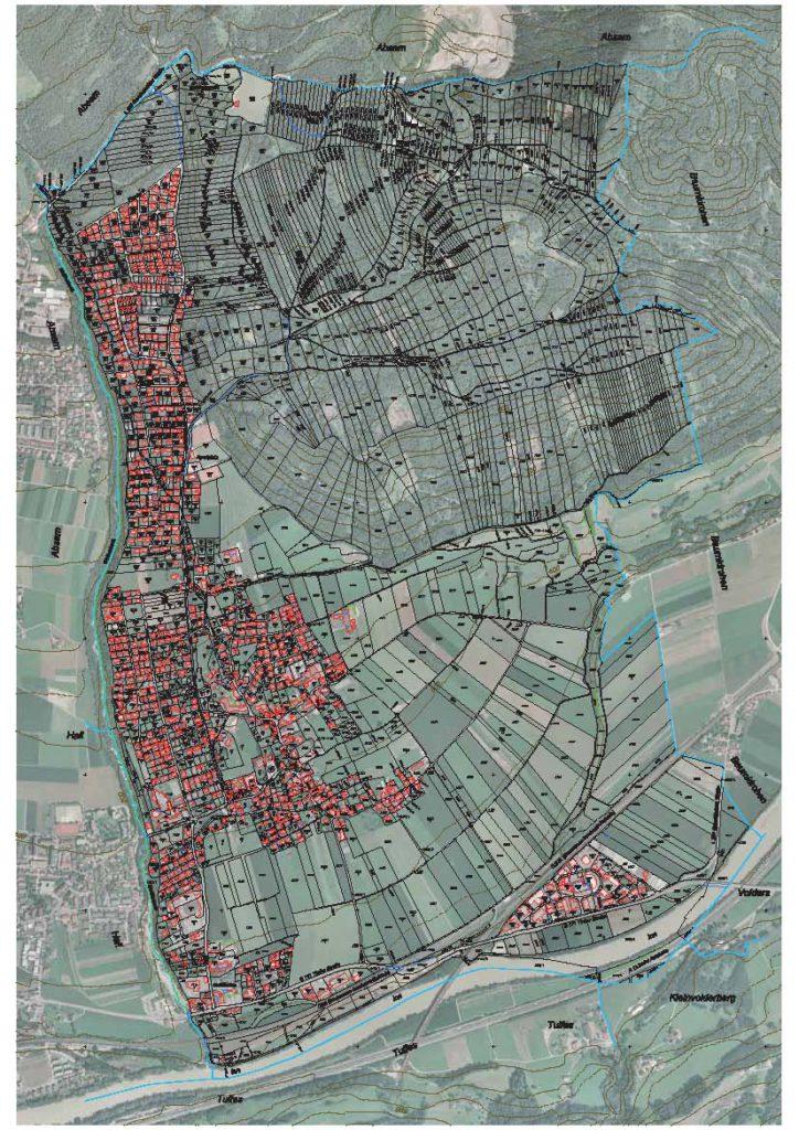Katasterkarte Gemeinde Mils