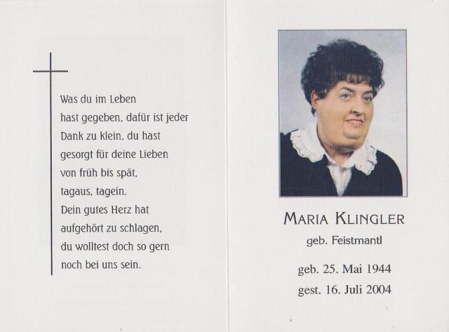 Klingler Maria