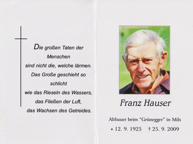 Hauser Franz
