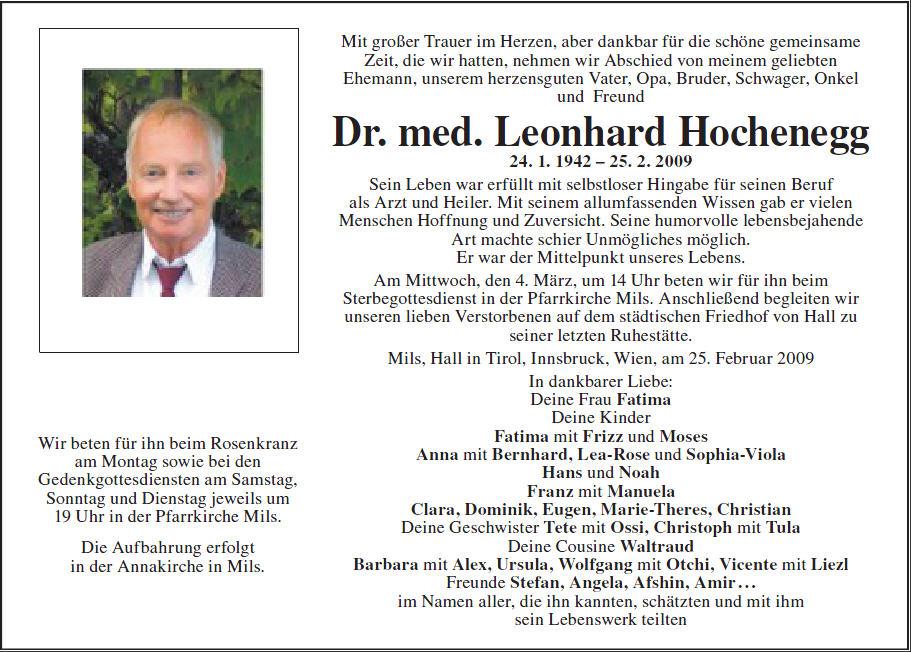 Dr. Hochenegg Leonhard