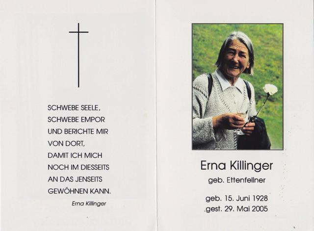 Killinger Erna