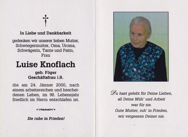 Knoflach Luise