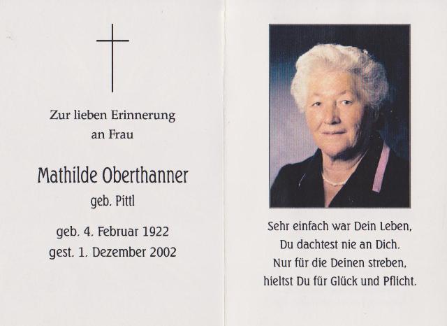 Oberthanner Mathilde