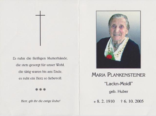 Plankensteiner Maria