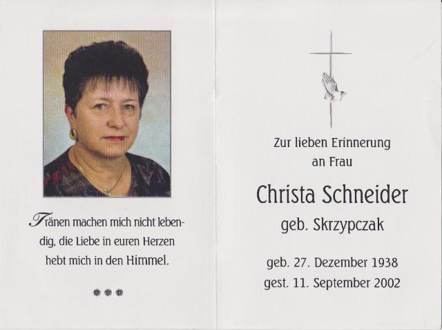 Schneider Christa