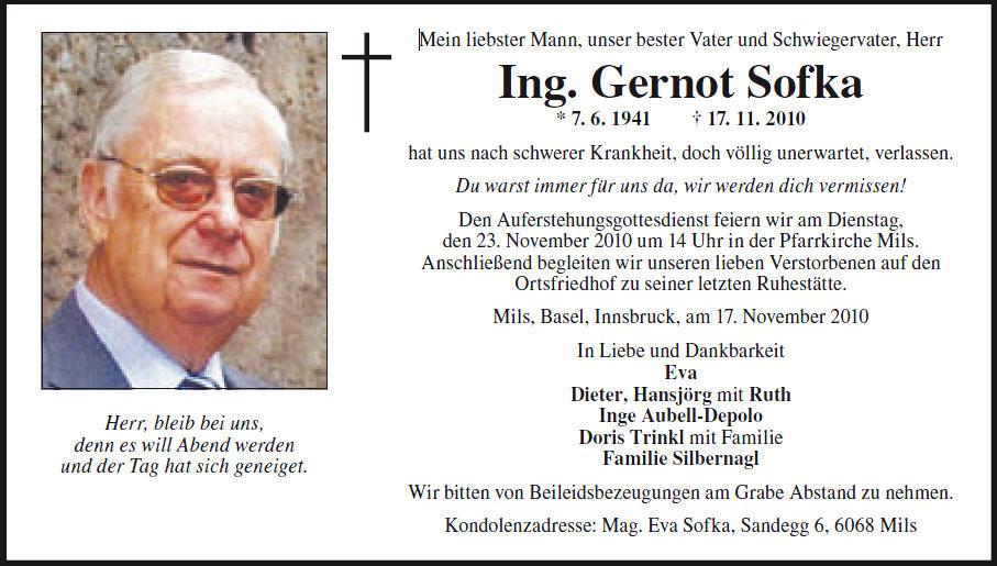Ing. Sofka Gerhard
