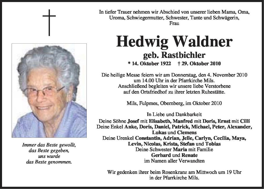 Waldner Hedwig