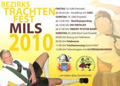 Bezirkstrachtenfest Mils 2010