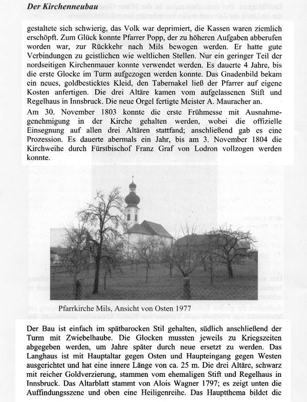 Wiederaufbau nach dem Kirchenbrand 1791