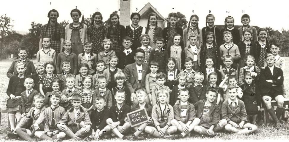 Klassenfoto 1939/40 b