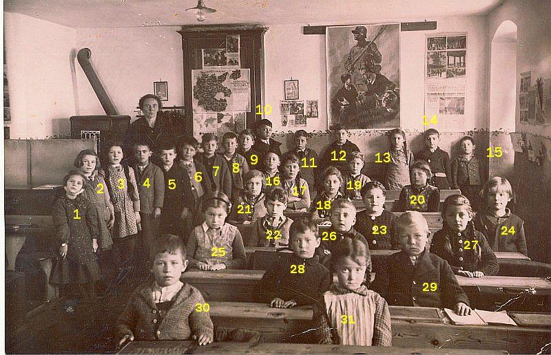 Klassenfoto 1939/40 3b