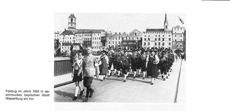 Musikkkapelle Mils in Wasserburg am Inn, Bayern, 1955