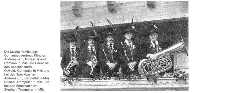 Musikerfamilie des Obmannes Andreas Klingler