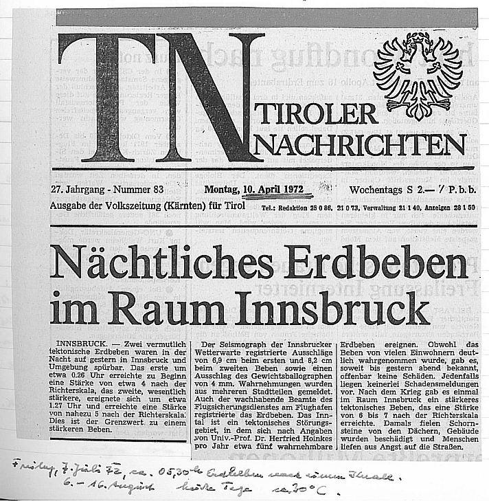 Erdbeben 1972