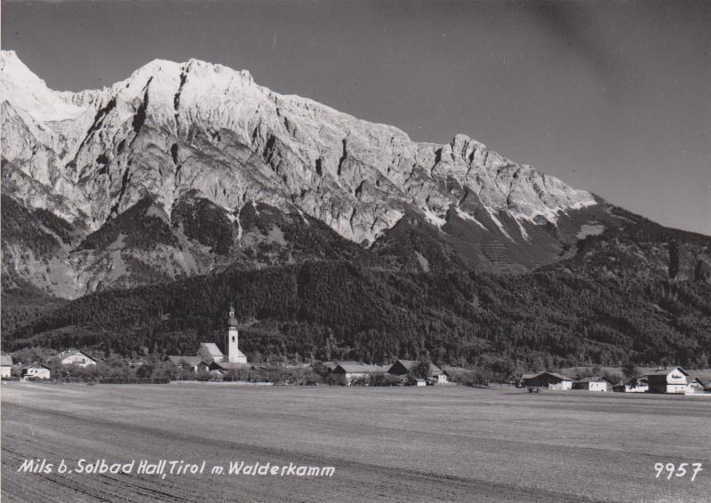 Das Unterdorf in den 1950er Jahren: Haus Tiefenthaler Hermann erbaut (bezugsfertig 1957).
