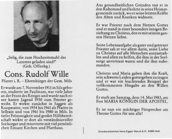 Pfarrer Rudolf Wille