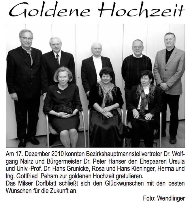 Goldene Hochzeiten 2010