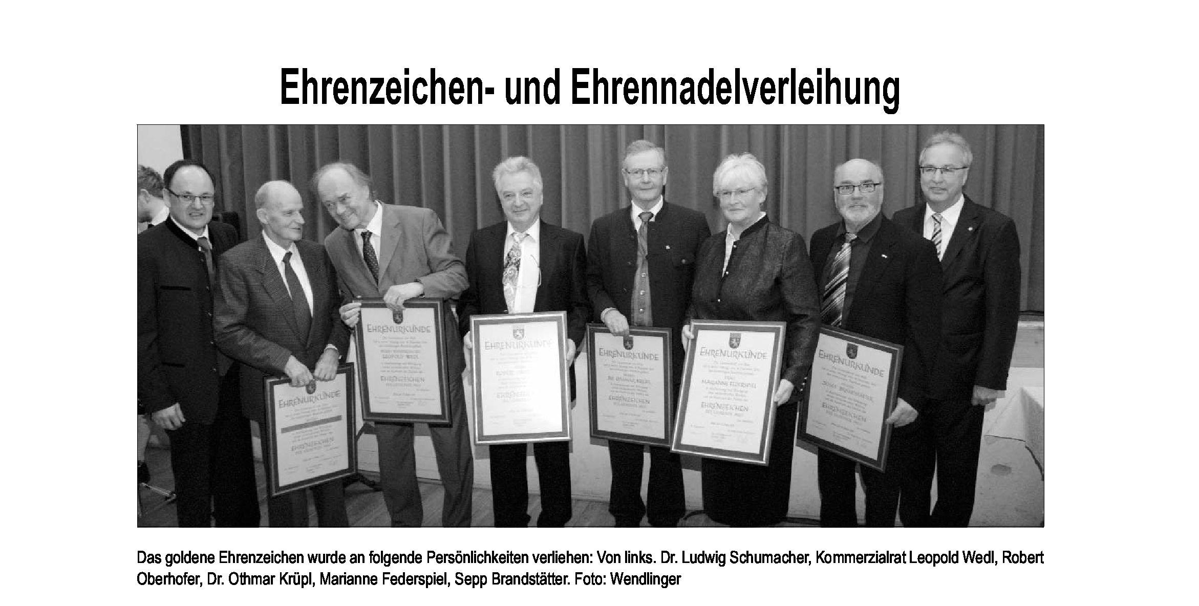 Ehrenzeichen 2011