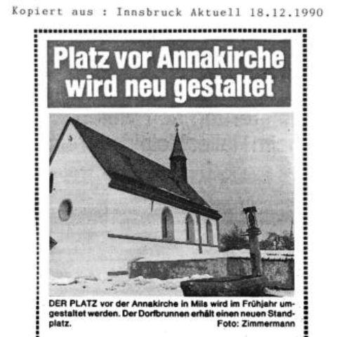 Dorferneuerung: Annakirche (1990)