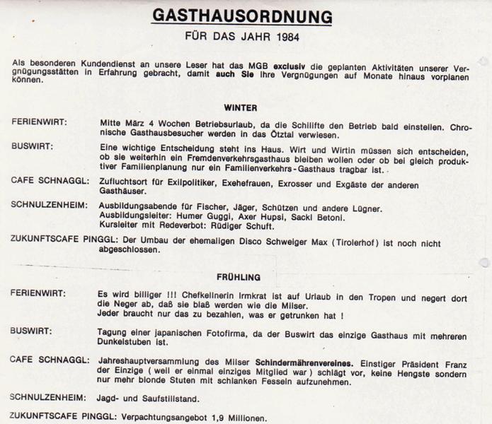 Gasthausordnung 1984
