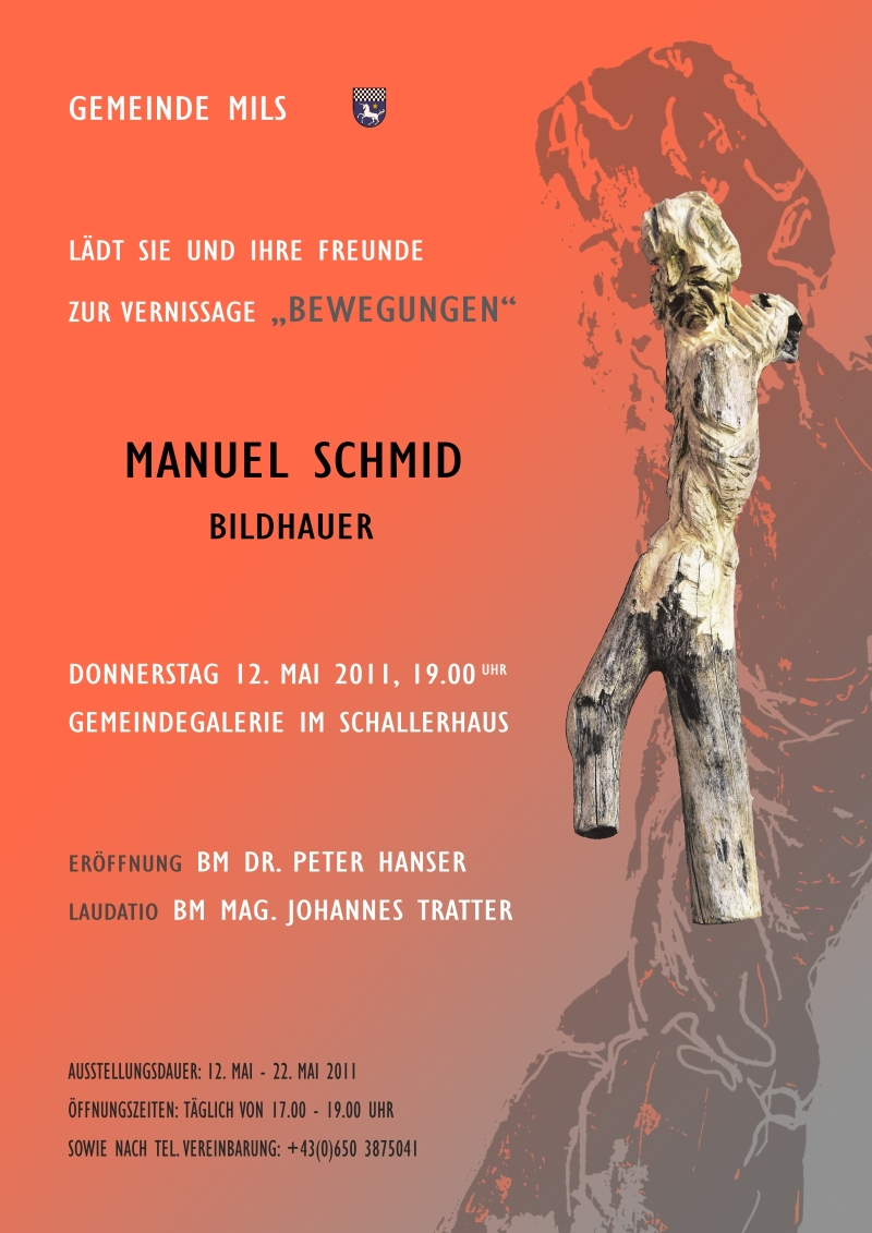 Ausstellung Manuel Schmid - Einladung