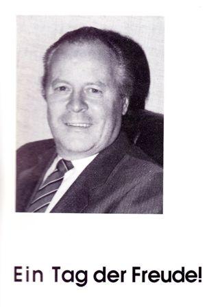 Hans Arnold, Einweihung des Feuerwehrhauses 1991