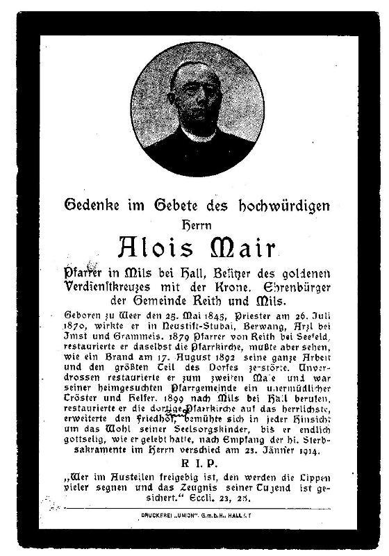Pfarrer Alois Mair