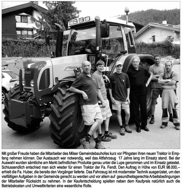 Neuer Gemeindetraktor 2010