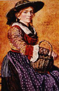 Paula Hornsteiner-Tiefenthaler: Trachten-Postkarten