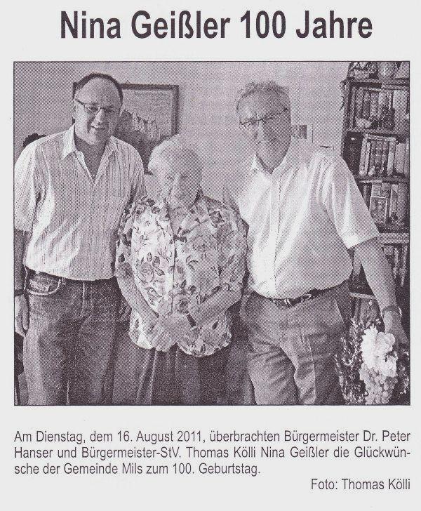 100 Jahre Nina Geißler