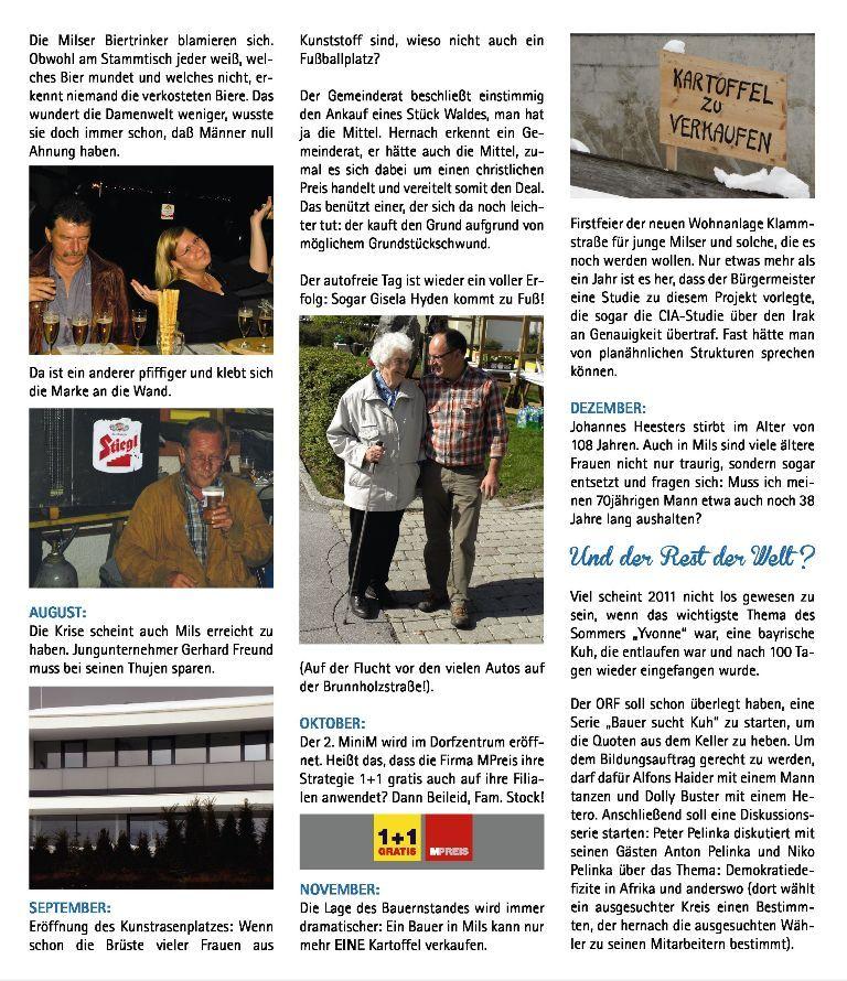 Fasching 2012: Satirischer Jahresrückblick