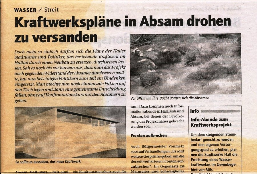 Kraftwerks-Projekt 2005