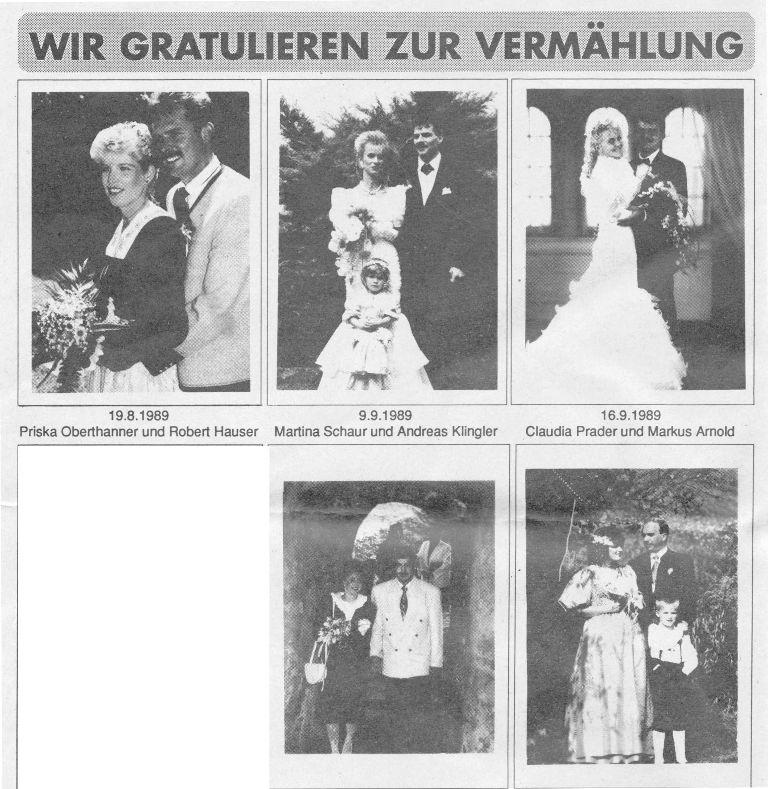 Hochzeiten 1989