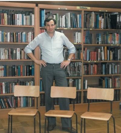 Karl Wendlinger in der alten Bibliothek