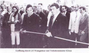 """Eröffnung Südumfahrung Innsbruck (""""Sautrog"""")"""
