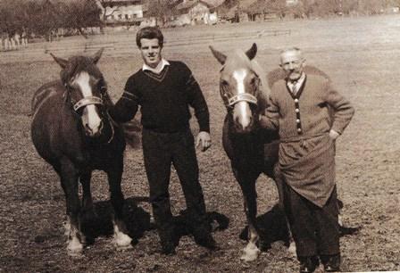 Hans Hirschhuber und Vater Willi Hirschhuber