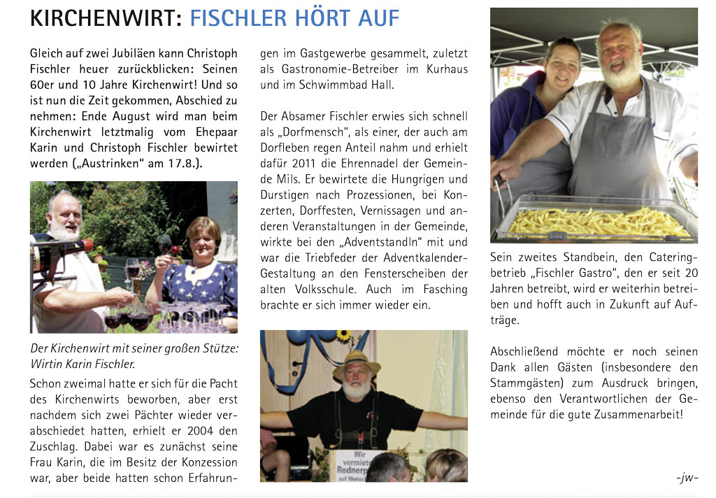 Kirchenwirt: Fischler hört auf