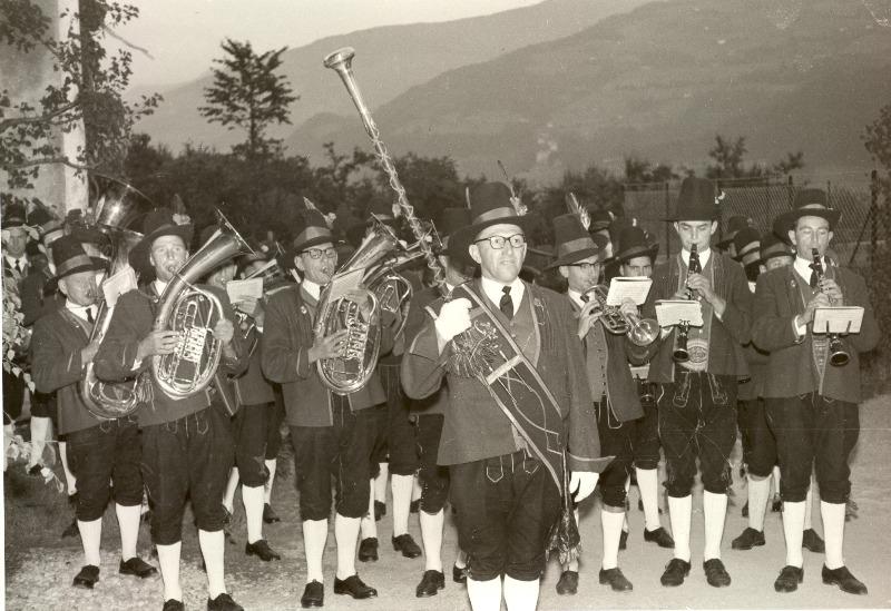 Musikkapelle: Foto 1950er Jahre
