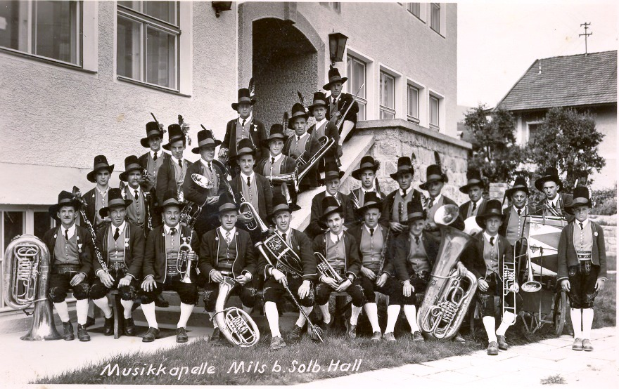 Musikkapelle Foto 1954