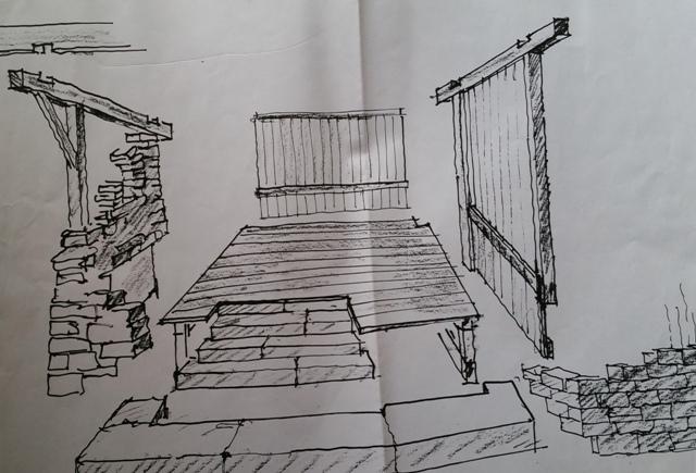 Plan des Stalls von Rupert Messner