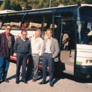 Luis 2.v.l. mit Ludwig Gabl, Hans Garber und Jani Kop beim Gemeindeausflug 1990