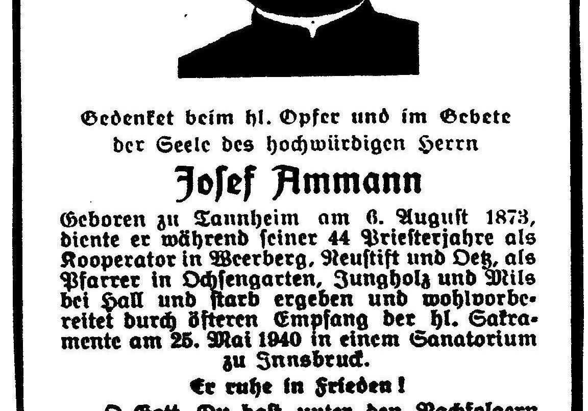Pfarrer Josef Amann
