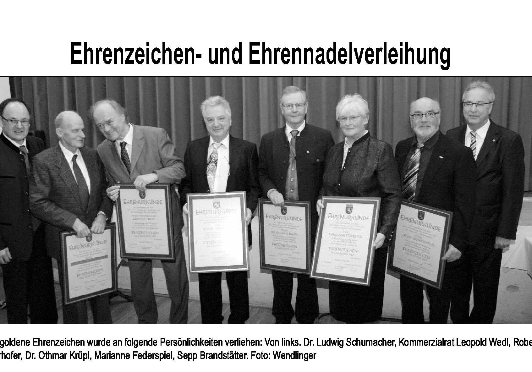 Ehrenzeichenträger 2011