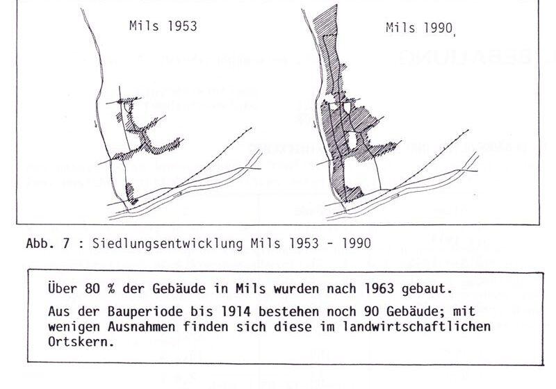 Siedlungsentwicklung 1953 - 1990