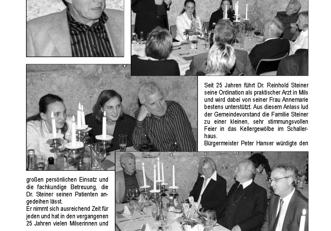 Dr. Steiner - Jubiläum