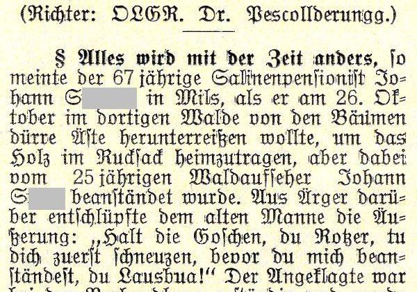 Gerichtsurteile aus der Zwischenkriegszeit