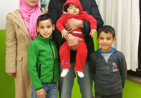 Eine syrische Flüchligsfamilie