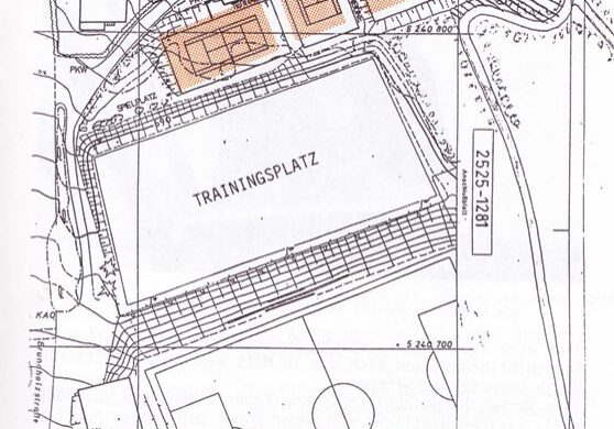 Tennisanlage Plan 1993