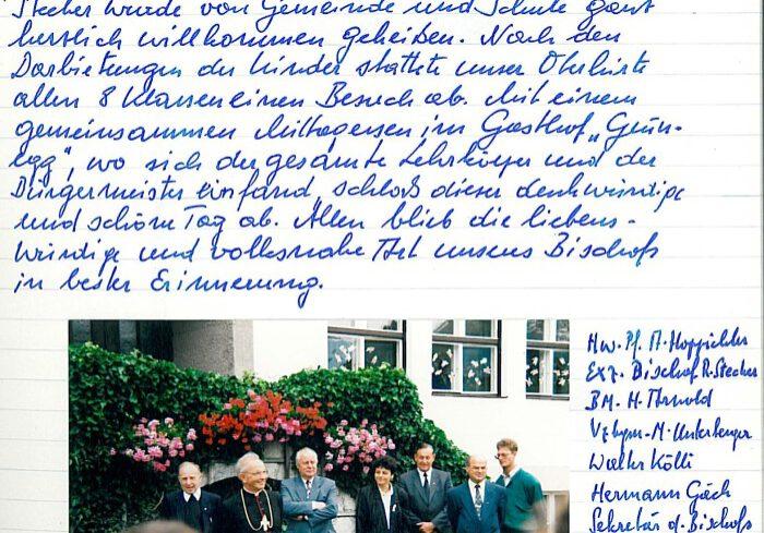 Bischofsbesuch 1993 in Mils